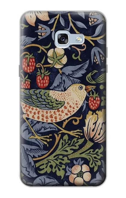 S3791 William Morris Strawberry Thief Fabric Case For Samsung Galaxy A5 (2017)