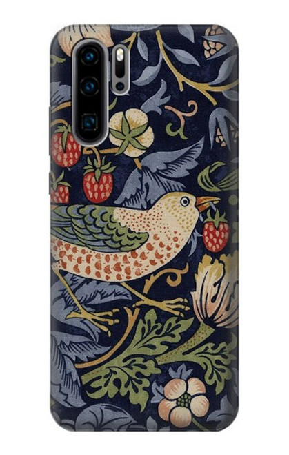 S3791 William Morris Strawberry Thief Fabric Case For Huawei P30 Pro