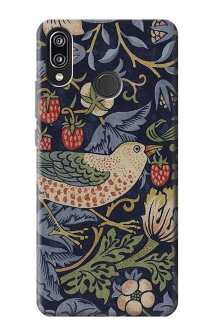 S3791 William Morris Strawberry Thief Fabric Case For Huawei P20 Lite
