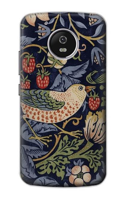 S3791 William Morris Strawberry Thief Fabric Case For Motorola Moto G5