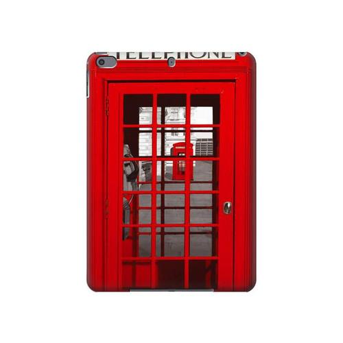 S0058 British Red Telephone Box Hard Case For iPad Air 3, iPad Pro 10.5, iPad 10.2 (2019,2020)