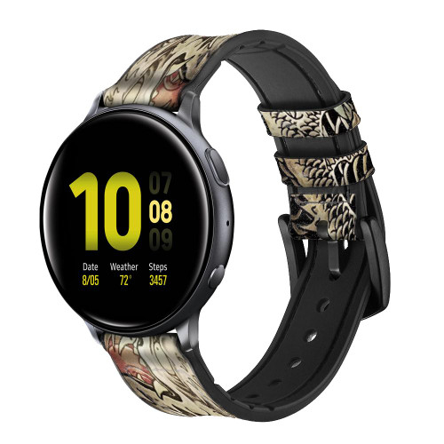 CA0014 Yakuza Tattoo Leather & Silicone Smart Watch Band Strap For Samsung Galaxy Watch, Gear, Active