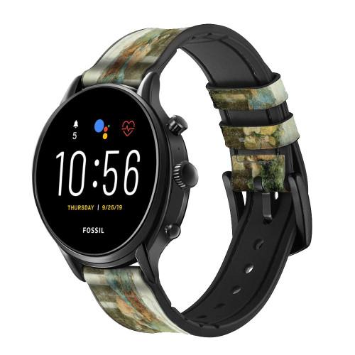 CA0016 Leonardo DaVinci The Last Supper Leather & Silicone Smart Watch Band Strap For Fossil Smartwatch