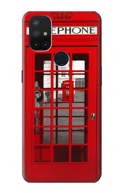 S0058 British Red Telephone Box Case For OnePlus Nord N10 5G