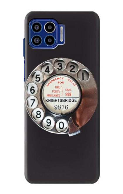 S0059 Retro Rotary Phone Dial On Case For Motorola One 5G