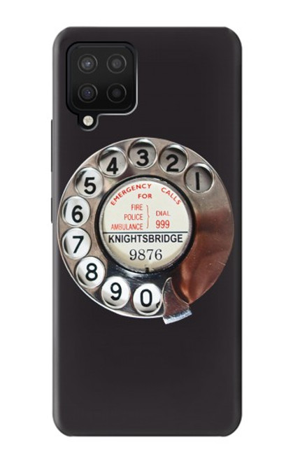 S0059 Retro Rotary Phone Dial On Case For Samsung Galaxy A12