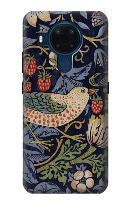 S3791 William Morris Strawberry Thief Fabric Case For Nokia 5.4