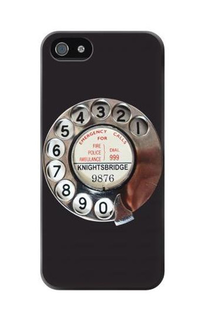 S0059 Retro Rotary Phone Dial On Case For iPhone 5C