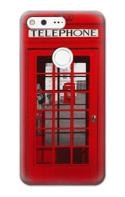 S0058 British Red Telephone Box Case For Google Pixel XL