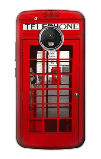 S0058 British Red Telephone Box Case For Motorola Moto G5 Plus