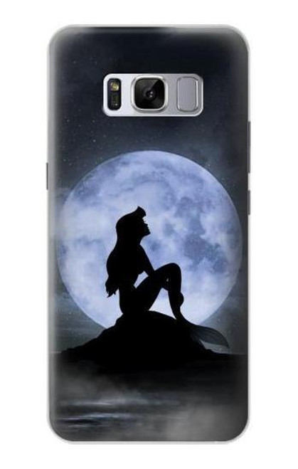 S2668 Mermaid Silhouette Moon Night Case For Samsung Galaxy S8