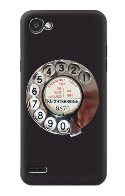 S0059 Retro Rotary Phone Dial On Case For LG Q6