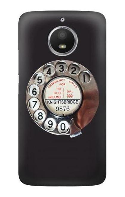 S0059 Retro Rotary Phone Dial On Case For Motorola Moto E4 Plus