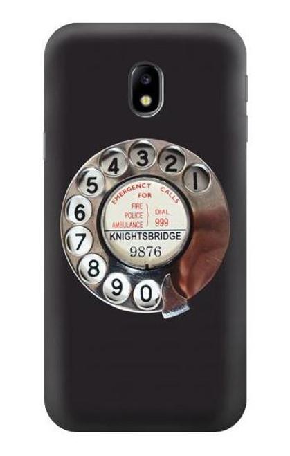 S0059 Retro Rotary Phone Dial On Case For Samsung Galaxy J3 (2017) EU Version