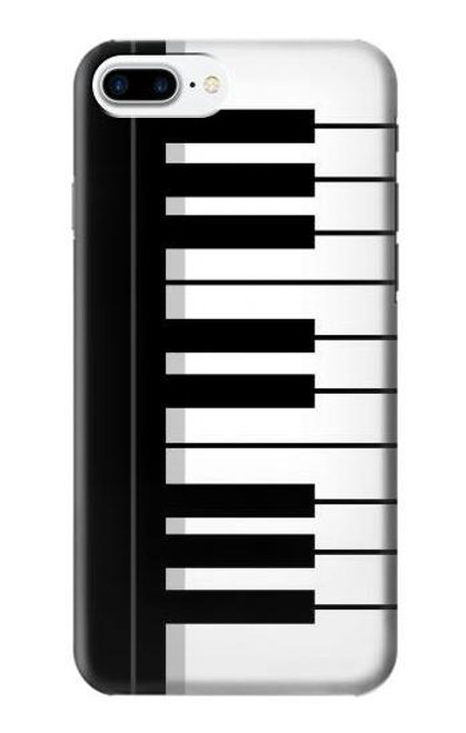 S3078 Black and White Piano Keyboard Case For iPhone 7 Plus, iPhone 8 Plus