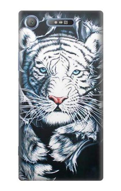 S0265 White Tiger Case For Sony Xperia XZ1