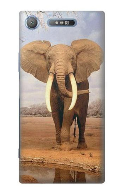 S0310 African Elephant Case For Sony Xperia XZ1