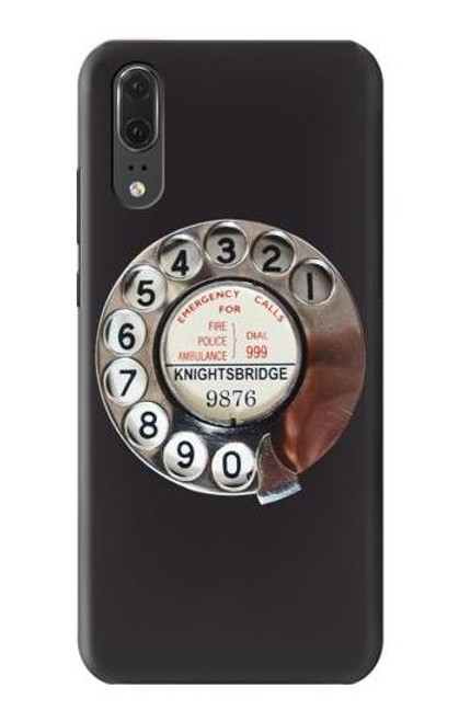 S0059 Retro Rotary Phone Dial On Case For Huawei P20