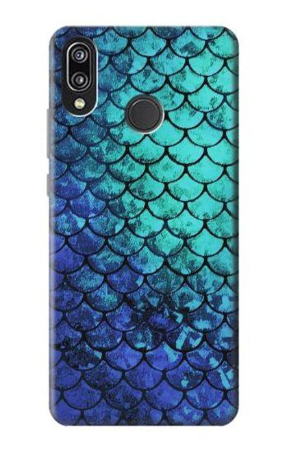 S3047 Green Mermaid Fish Scale Case For Huawei P20 Lite