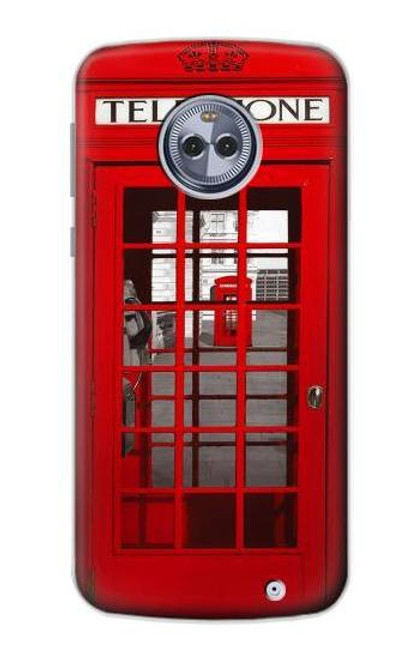 S0058 British Red Telephone Box Case For Motorola Moto X4