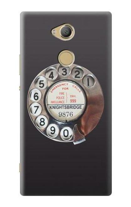 S0059 Retro Rotary Phone Dial On Case For Sony Xperia XA2 Ultra