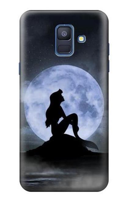 S2668 Mermaid Silhouette Moon Night Case For Samsung Galaxy A6 (2018)