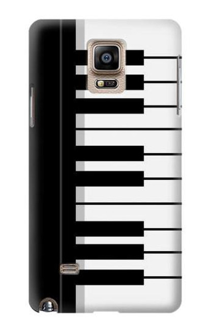 S3078 Black and White Piano Keyboard Case For Samsung Galaxy Note 4