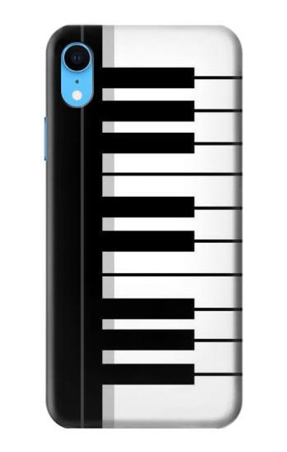 S3078 Black and White Piano Keyboard Case For iPhone XR