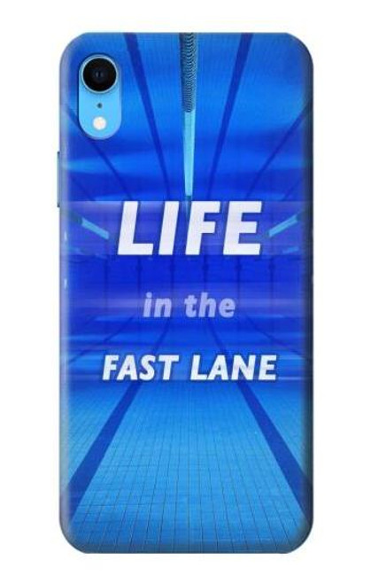 S3136 Life in the Fast Lane Swimming Pool Case For iPhone XR