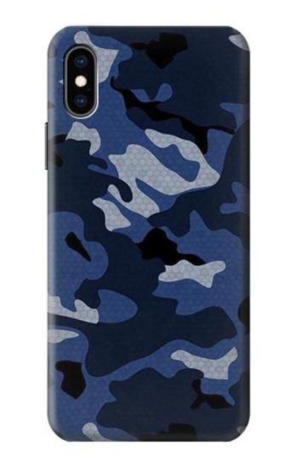 S2959 Navy Blue Camo Camouflage Case For iPhone X, iPhone XS