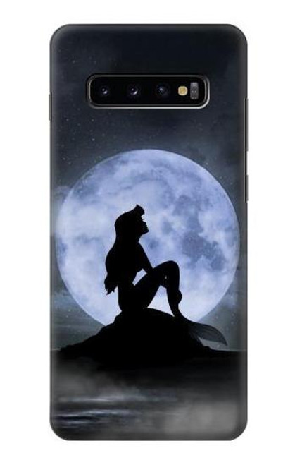 S2668 Mermaid Silhouette Moon Night Case For Samsung Galaxy S10 Plus