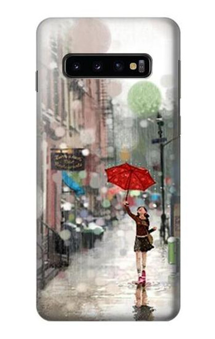 S0108 Girl in The Rain Case For Samsung Galaxy S10