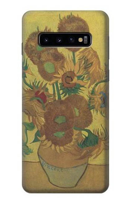 S0214 Van Gogh Vase Fifteen Sunflowers Case For Samsung Galaxy S10