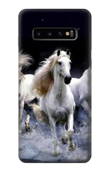 S0246 White Horse Case For Samsung Galaxy S10