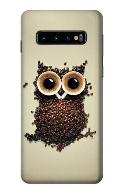 S0360 Coffee Owl Case For Samsung Galaxy S10