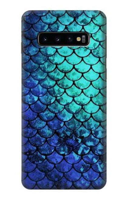 S3047 Green Mermaid Fish Scale Case For Samsung Galaxy S10