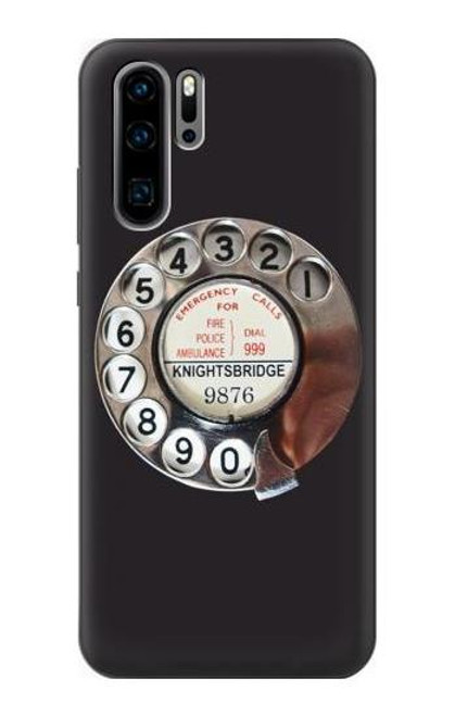 S0059 Retro Rotary Phone Dial On Case For Huawei P30 Pro