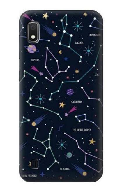S3220 Star Map Zodiac Constellations Case For Samsung Galaxy A10