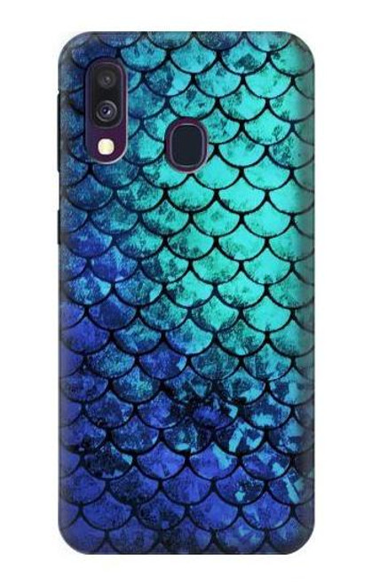 S3047 Green Mermaid Fish Scale Case For Samsung Galaxy A40