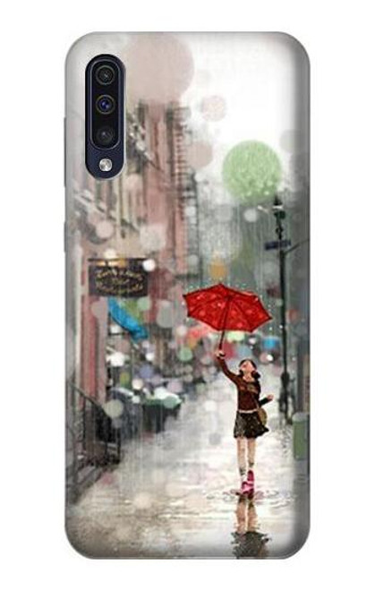 S0108 Girl in The Rain Case For Samsung Galaxy A70
