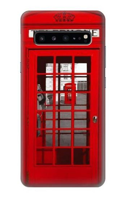 S0058 British Red Telephone Box Case For Samsung Galaxy S10 5G