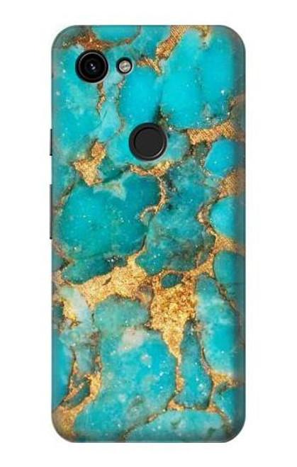 S2906 Aqua Turquoise Stone Case For Google Pixel 3a