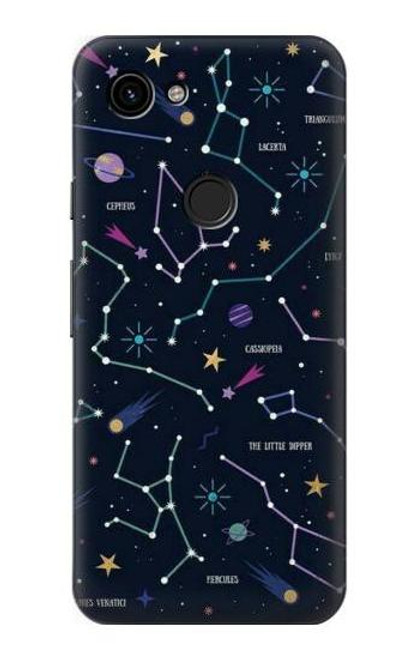 S3220 Star Map Zodiac Constellations Case For Google Pixel 3a
