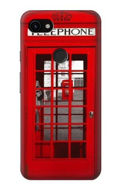 S0058 British Red Telephone Box Case For Google Pixel 3a XL