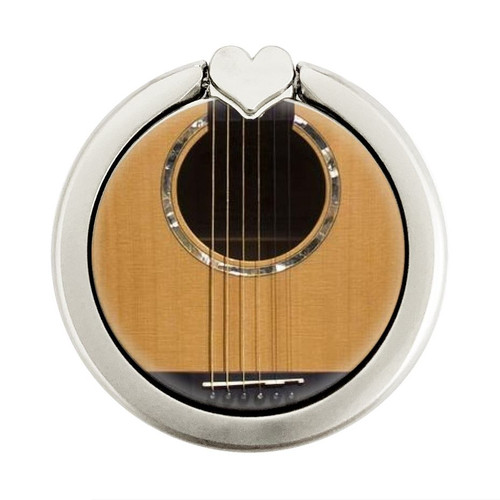 S0057 Acoustic Guitar Graphic Ring Holder and Pop Up Grip