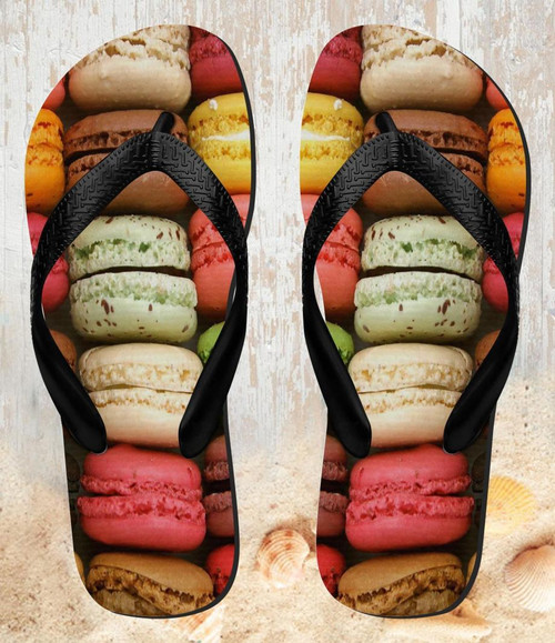 FA0010 Macarons Beach Slippers Sandals Flip Flops Unisex
