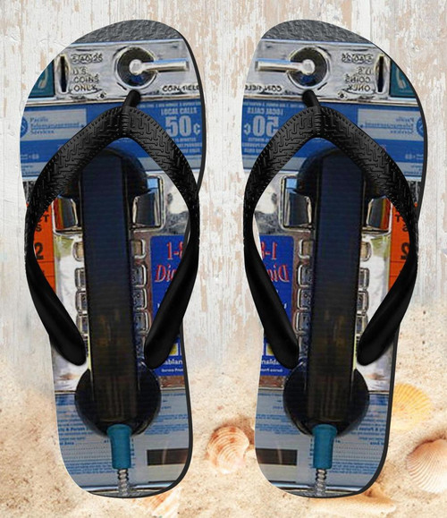 FA0011 Payphone Beach Slippers Sandals Flip Flops Unisex