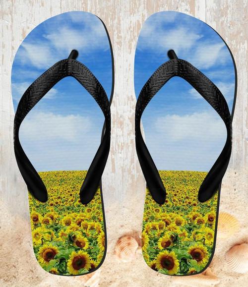 FA0018 Sunflower Beach Slippers Sandals Flip Flops Unisex