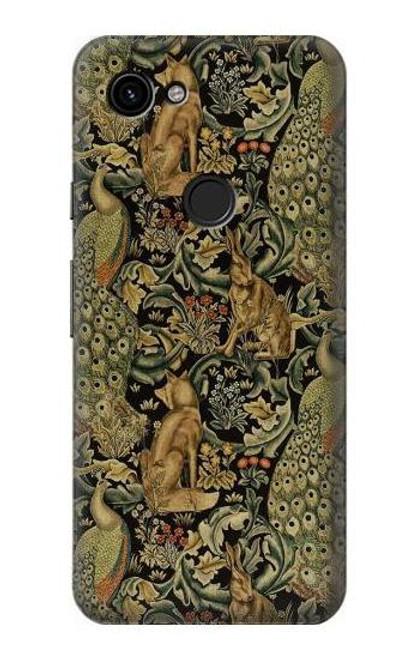 S3661 William Morris Forest Velvet Case For Google Pixel 3a