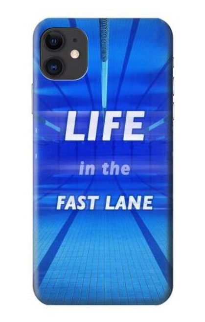 S3136 Life in the Fast Lane Swimming Pool Case For iPhone 11